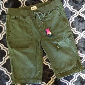 Hudson jeans Bermuda shorts - olive green